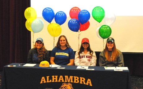 Alhambra Softball signing letter of intent
