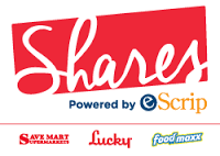 Image of a Lucky s coupon that says  shares